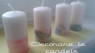 DECORARE CANDELE con SMALTI - Riciclo Creativo || Mami Crea