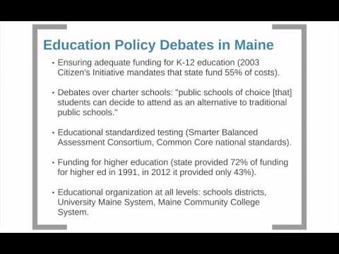 POS 362: Maine Government-Education Policy