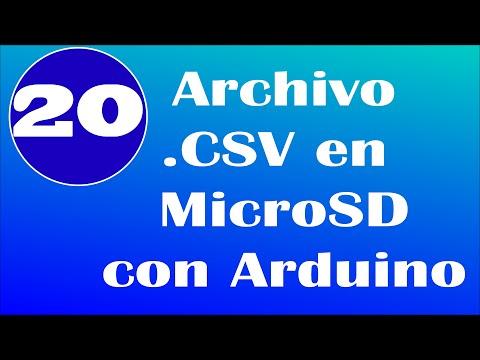 Archivo CSV con Arduino MicroSD