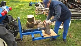 Wood Splitter on Iseki tractor (Home made)