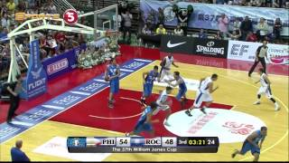 Philippines vs. Chinese Taipei A - Q3  | JONES CUP 2015