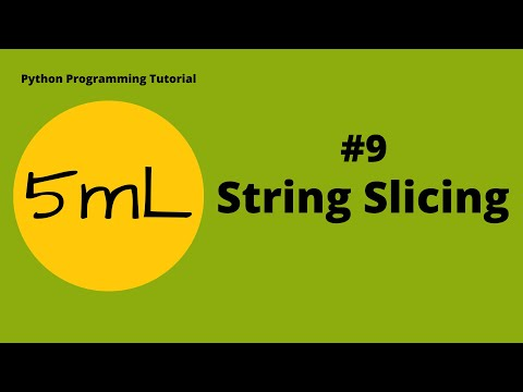 5mL - Knives out! Time to Slice the Strings | Tutorial #9 | Python Programming thumbnail