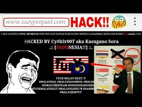 Viral! Situs Resmi Malaysia DiRetas Hacker Indonesia, Atas Pembalikan Bendara Merah-Putih