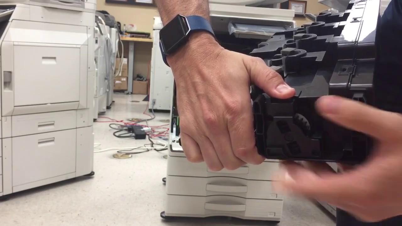 Sharp Waste Toner Box - Emptying Process