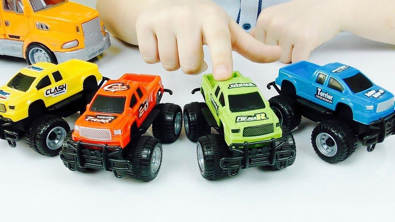 Трансформеры Автоботы Машинки и Перевозчик Мультик из игрушек Видео для детей