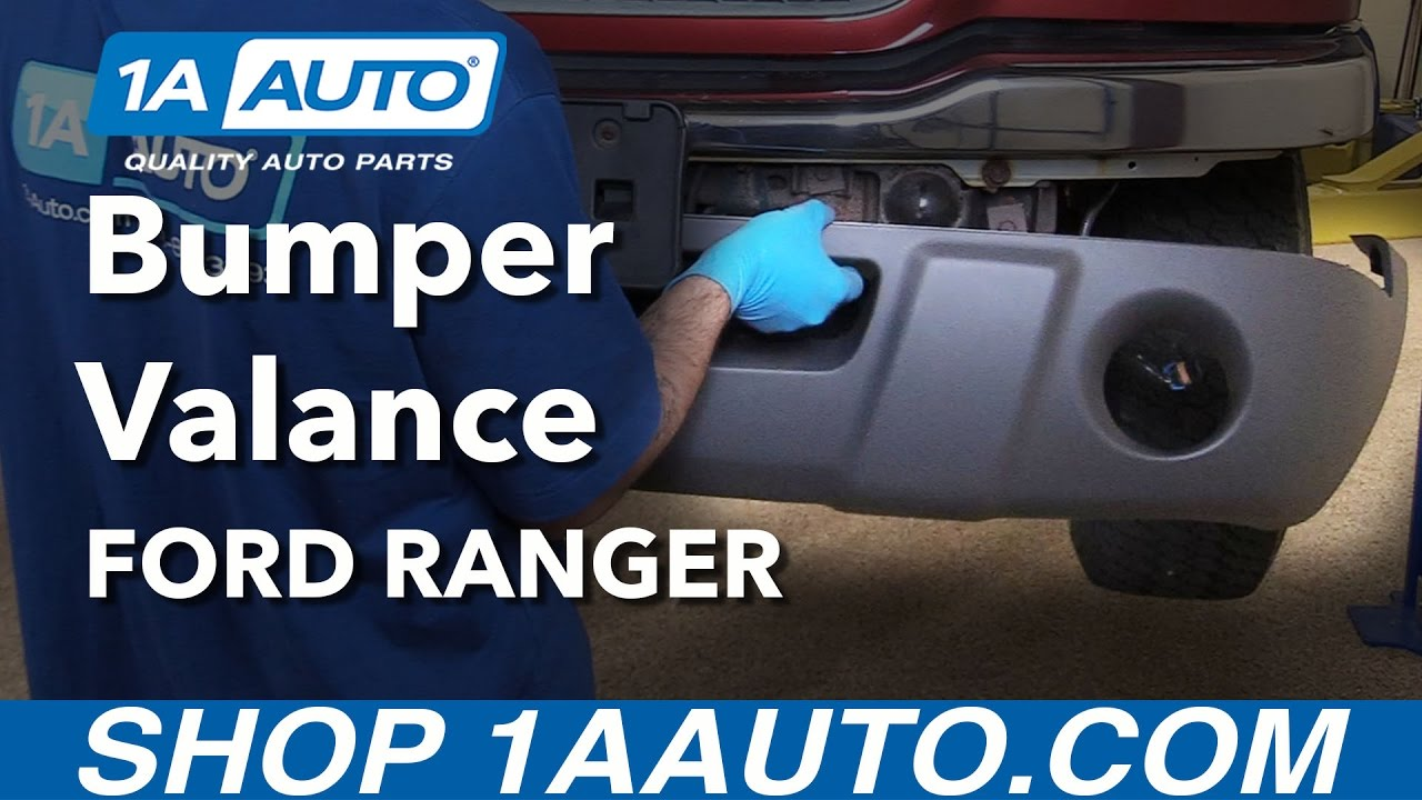 hight resolution of how to replace front bumper valance 01 03 ford ranger