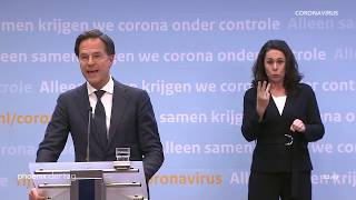 mark rutte ministerprasident niederlande zu den corona massnahmen in den niederlanden am 21 04 20