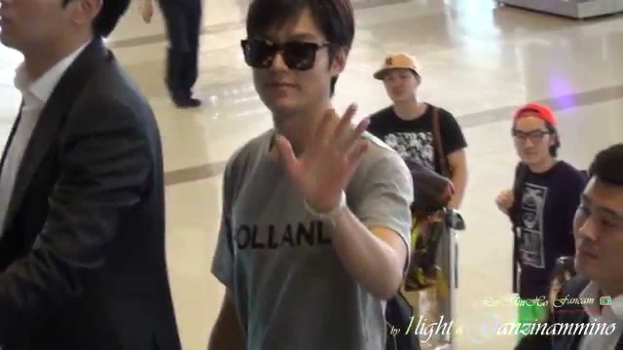 Lee Min Ho 20140808 Gimpo Incheon Airport 중국 출입국