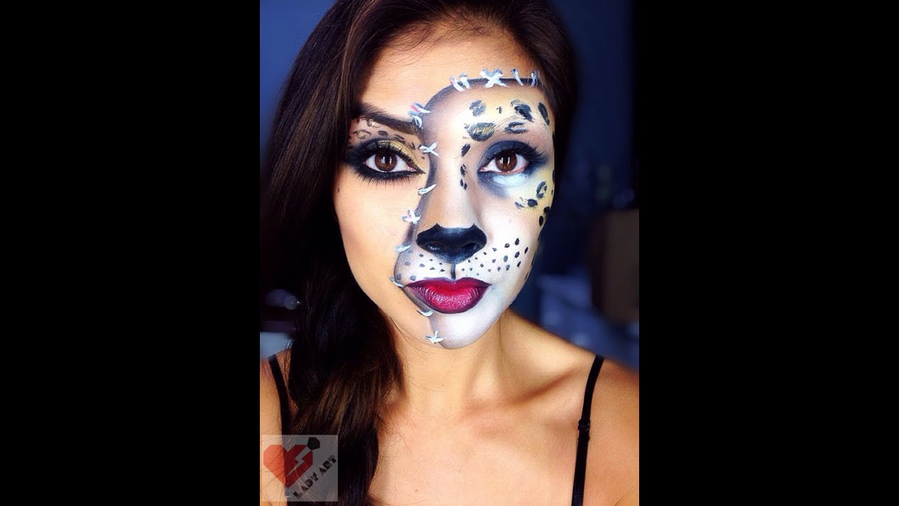 Halloween Leopard Cat Makeup Tutorial