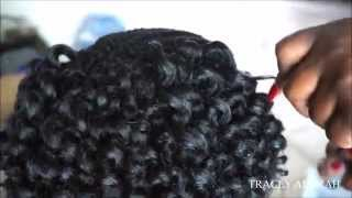 install pre curled crochet braids