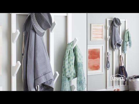 DIY Hanging Coat Rack