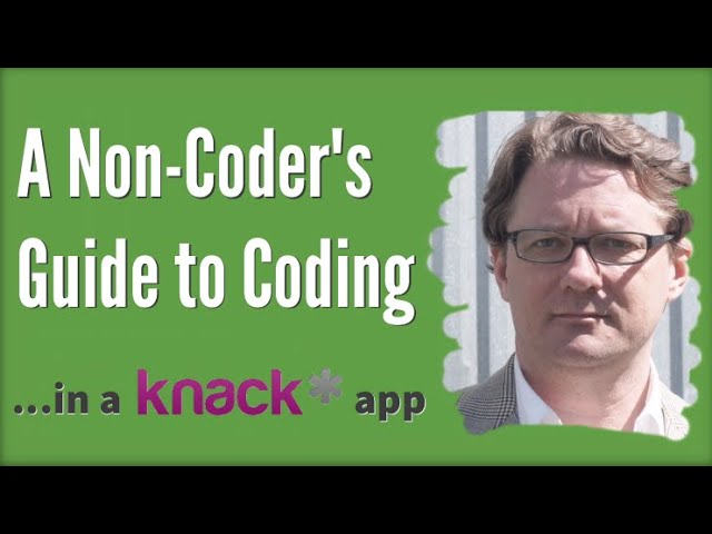 A Non-Coder's Guide to Coding in a Knack App
