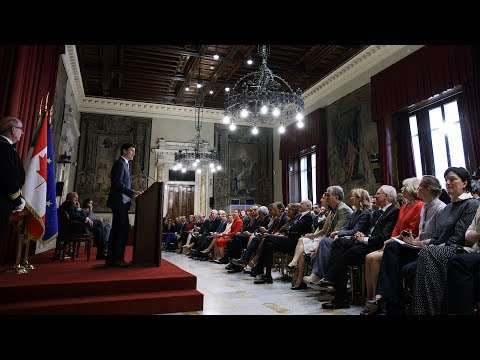 Prime Minister Trudeau delivers remarks at the Italian Chamber of Deputies