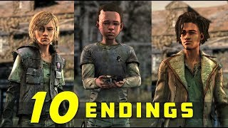 The Walking Dead: Final Season | All Possible Endings (Violet, Louis & Tenn's Fate)