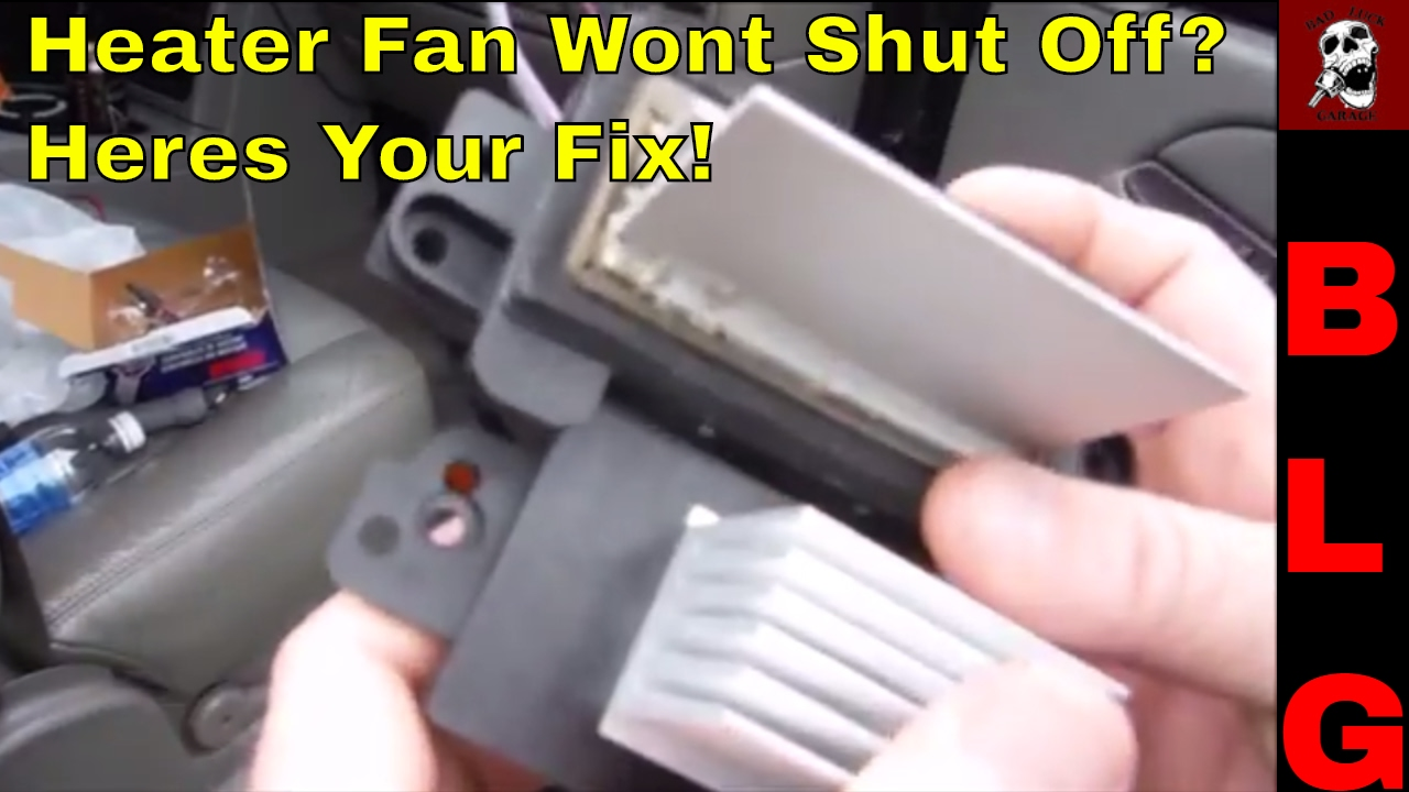 how to 99- 07 silverado blower motor resistor replacement heater fan wont  shut off