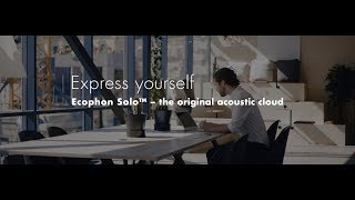 Express yourself with Ecophon Solo™ - the original acoustic cloud