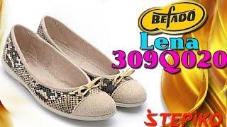 Женские текстильные балетки Befado Lena 309q020. Видео обзор от WWW.STEPIKO.COM