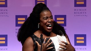 Uzo Aduba Receives the HRC Ally For Equality Award
