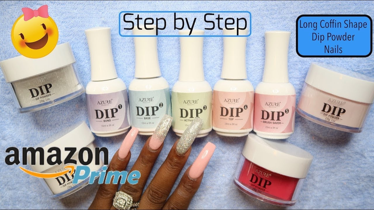 DIY Trying a New Dip Powder Kit From Amazon Prime - Azure Beauty