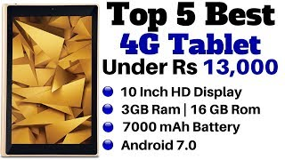 Top 5 Best 4G VoLTE Tablet Under Rs 13,000 In India | Best Calling Tablet