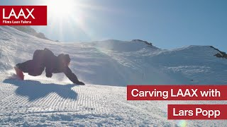 Carving the slopes of LAAX on a very early morning | Following Lars