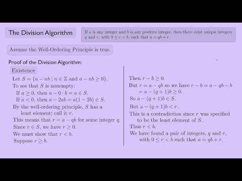 (Abstract Algebra 1) The Division Algorithm