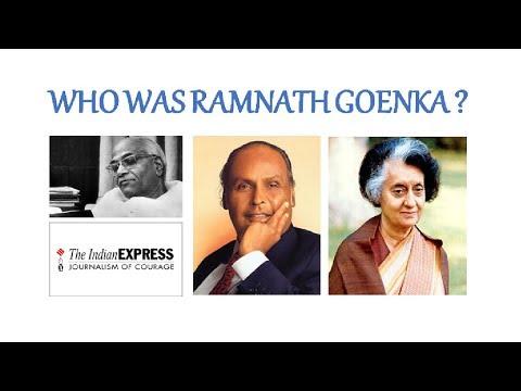 Ramnath Goenka Biography - Fight with Indira Gandhi & Dhirubhai Ambani, Indian Express Group