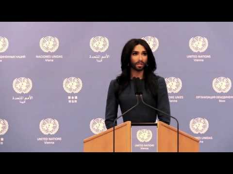 Conchita – Respect and human rights are for everyone (United Nations Vienna)