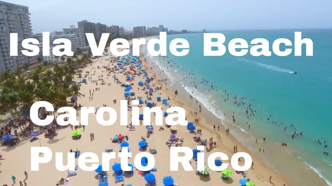 Isla Verde Beach In Carolina Puerto Rico Drone Footage 4th Of July