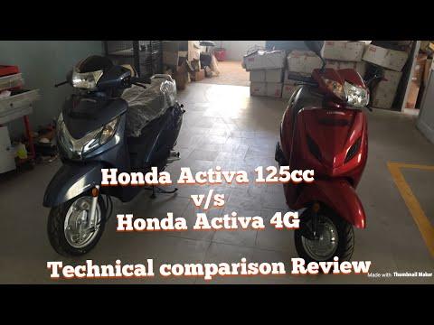 Honda Activa 4G Bs4 v/s Honda Activa 125 Bsiv || Technical comparison Review || New || 2017||