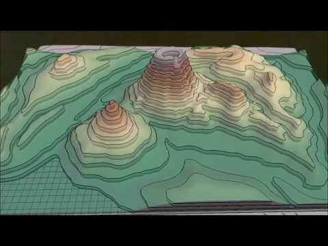 Visualization of contour maps with augmented reality