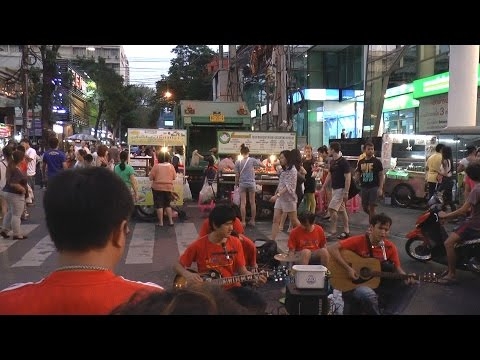 11. Silom Walking Street on Sundays, Bangkok. Concerts, music, shopping, people...