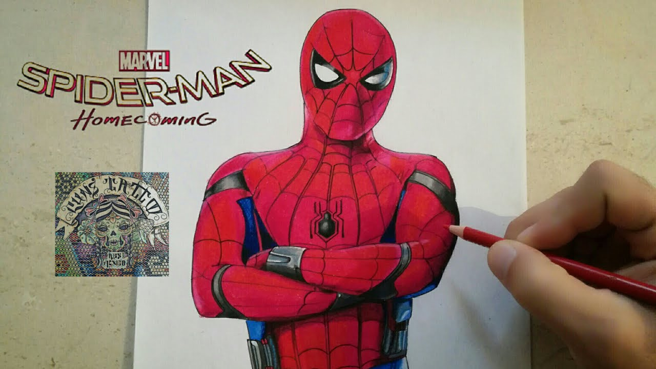 Como dibujar a spiderman homecoming how to draw spiderman homecoming