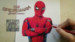 COMO DIBUJAR A SPIDERMAN HOMECOMING / how to draw spiderman homecoming