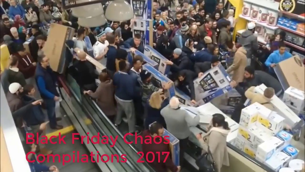 The chaos and carnage of a Black Friday shopping spree ...