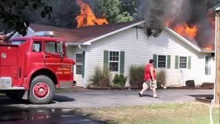 Trumann FD M/A Structure Fire 23-Sep-15 (Helmet Cam)