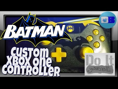 How to paint Xbox One Controller - Batman (A Drumblanket DIY Project)