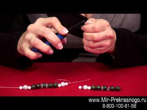Видео Как сделать браслет на резинке. Обучение.