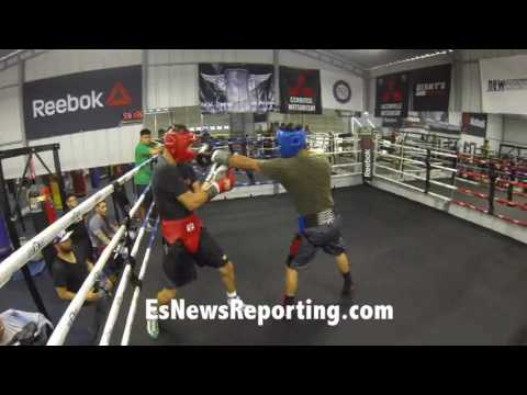 Mikey Garcia vs Hector Tanajara sparring - EsNews Boxing