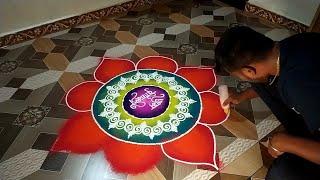 Diwali special rangoli design✨Sanskar bharti rangoli design