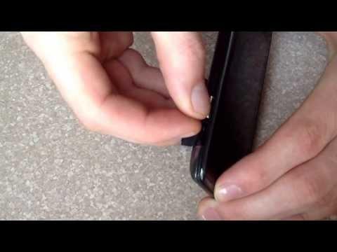 Insert / eject SIM card Motorola droid Razr maxx