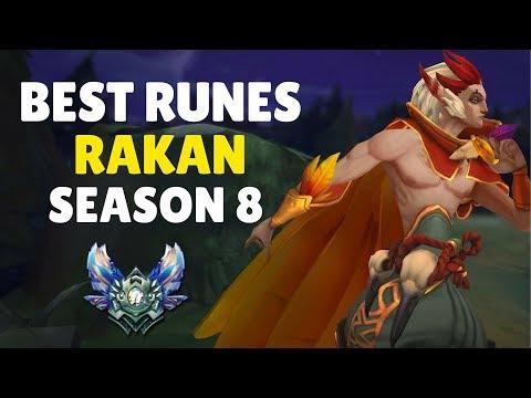 BEST RAKAN RUNES SEASON 8 - SUPPORT, MID AND JUNGLE GUIDE  (League of Legends)