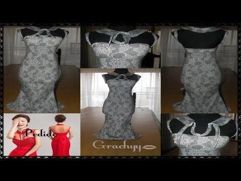 Como se corta un vestido sirena