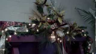 Making A Christmas Mantle Piece