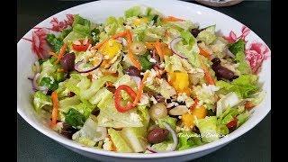 Пушистый салат за 5 минут РОМЭН 🥬 БЕЗ МАЙОНЕЗА Очень Вкусно Просто и Полезно!