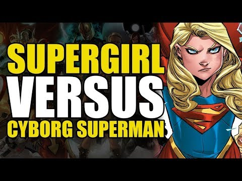 "Supergirl Wrecks ""Superman"" (Supergirl Rebirth Vol 1: Reign The Cyborg Supermen)"