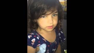 Evie 4 years old singing frozen 2