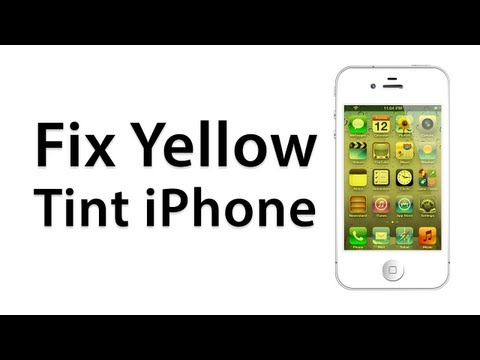 [How To] Fix A Yellow Screen On An iPhone - Calibrate Screen -  (Jailbreak Cydia Tweak)