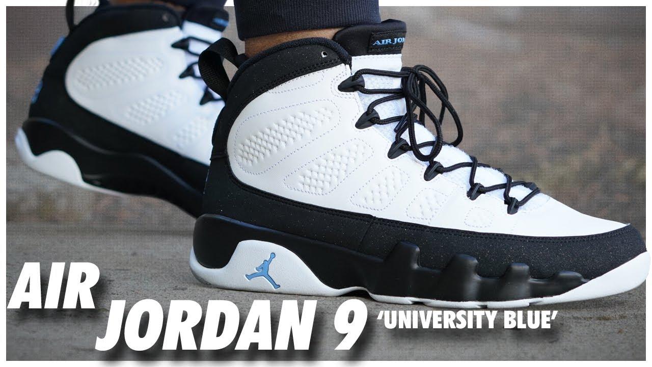 polilla preferir futuro  Air Jordan 9 University Blue - YouTube
