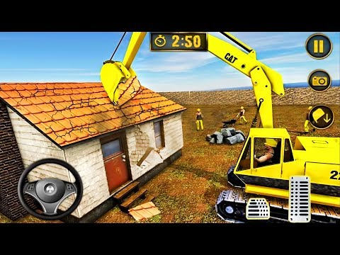Wrecking Crane House Moving - Excavator Construction Simulator 2019 - Android GamePlay
